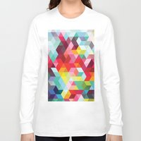 sublime Long Sleeve T-shirts featuring sublime geometries 01 by Sarah Joy Nikkel