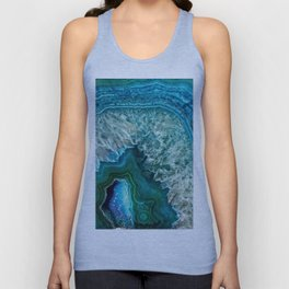 Aqua turquoise agate mineral gem stone - Beautiful Backdrop Unisex Tank Top