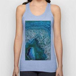 Aqua turquoise agate mineral gem stone - Beautiful Backdrop Unisex Tank Top