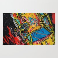 wreck it ralph Area & Throw Rugs featuring Car Wreck by C Z A V E L L E