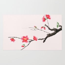 red Japan begonia Rug
