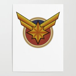Captainmarvel embroidered Poster