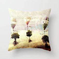 tree - air baloon Throw Pillow