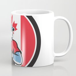 Canadian Baseball Pitcher Canada Flag Icon Coffee Mug