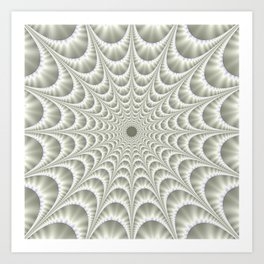 Quilted Web in White Art Print