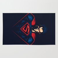 man of steel Area & Throw Rugs featuring Man of Steel by Steven Toang