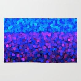 Sparkles Glitter Blue Rug