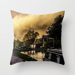 NB Noproblem at the locks Throw Pillow