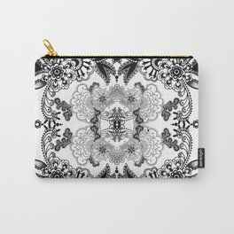 Black Paisley Carry-All Pouch