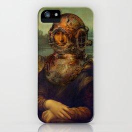 Steampunk Mona Lisa - Leonardo da Vinci iPhone Case
