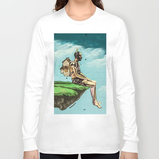 Man on the rock 5 Long Sleeve T-shirt