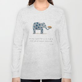 polka dot elephants serving us pie Long Sleeve T-shirt