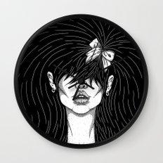 Girl With a Ribbon  Wall Clock