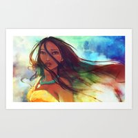 princess Art Prints featuring The Wind... by Alice X. Zhang