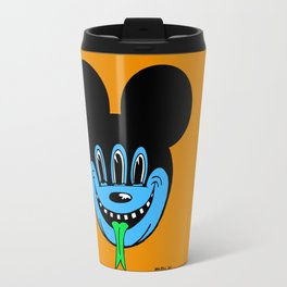 REPTILIAN MICKEYES. (Blue Face). Travel Mug