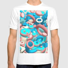 Candy White MEDIUM Mens Fitted Tee