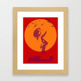 Loser sky Framed Art Print