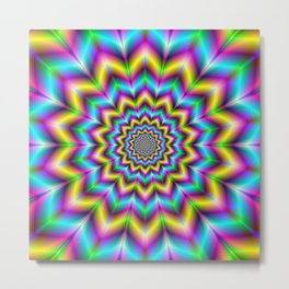 Yellow Blue and Violet Star Metal Print