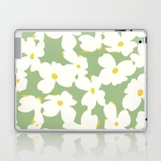 Dogwood Floral: Sage/Green Laptop & iPad Skin