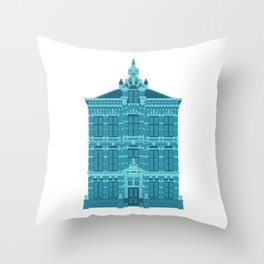 Blue House in Holland Throw Pillow
