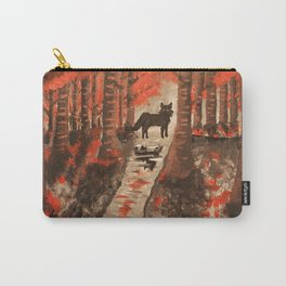 Scarlet Wolf Carry-All Pouch