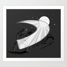 Ninja Slice II Art Print