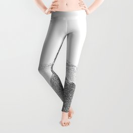 Seashore Rocks Sea Foam Shower Coastal Abstract Leggings