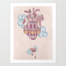 Light at heart (come fly with me) Art Print