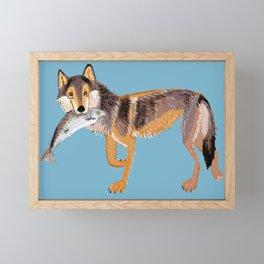 Totem Coastal wolf (Vancouver Wolf) Framed Mini Art Print