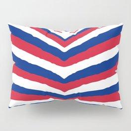 UK British Union Jack Red White and Blue Zebra Stripes Pillow Sham