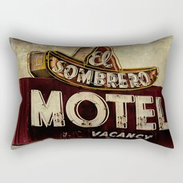Vintage El Sombrero Motel Sign Rectangular Pillow
