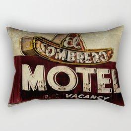 Vintage El Sombrero Motel Sign Rectangular Pillow
