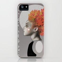 Autumn emotions iPhone Case