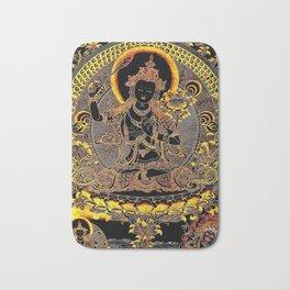Manjushree Black Gold Thangka Bath Mat