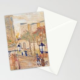 Back Alleyways, Italy floral portrait by Lajos Gulácsy Stationery Cards