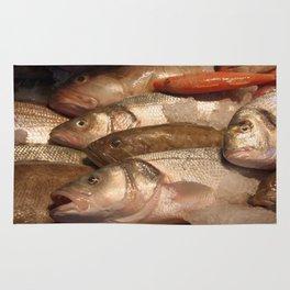 Variety of Fresh Fish Seafood on Ice 2 Rug