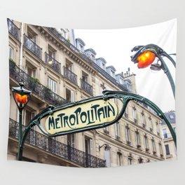 Metropolitain in Paris Wall Tapestry
