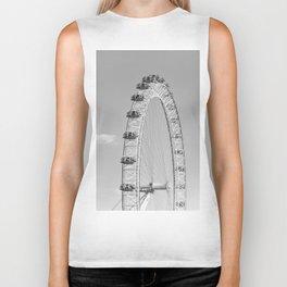 The London Eye (Black and White) Biker Tank
