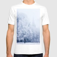 Inspired Trees SMALL White Mens Fitted Tee