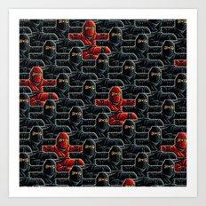 Ninja Attack Art Print