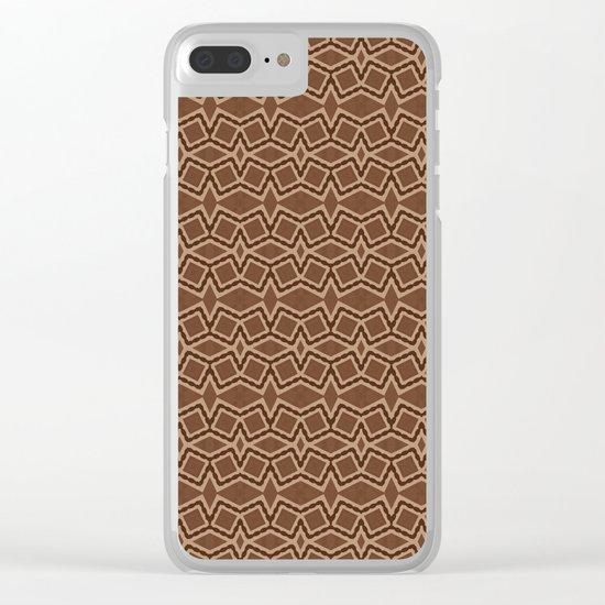 Brown Tilt-A-Block Clear iPhone Case