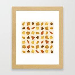 Leaf Lovers in Whipped Cream Framed Art Print