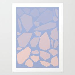 Pink gems Art Print