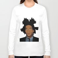 basquiat Long Sleeve T-shirts featuring Basquiat by evanski