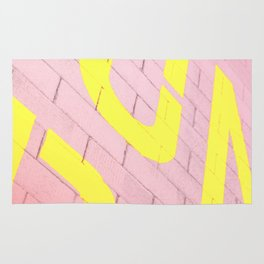 Street Colors Lettering Rug
