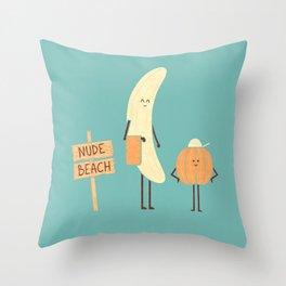 Nudists Throw Pillow