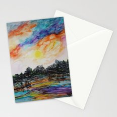 WAtercolor City Stationery Cards