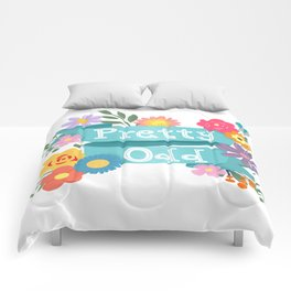 Pretty Odd Floral Banner Comforters