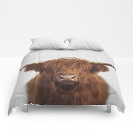 Highland Cow - Colorful Comforters