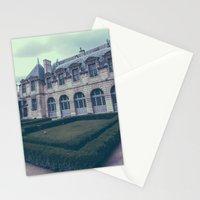 French Garden Maze III Stationery Cards